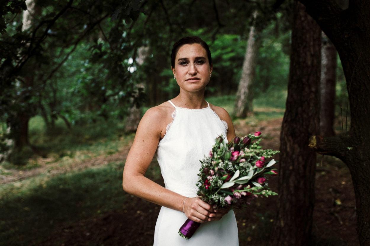 Portrait der Braut im Teutoburger Wald