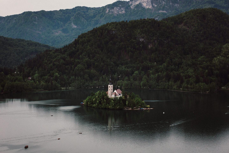 Kirche am Bled See
