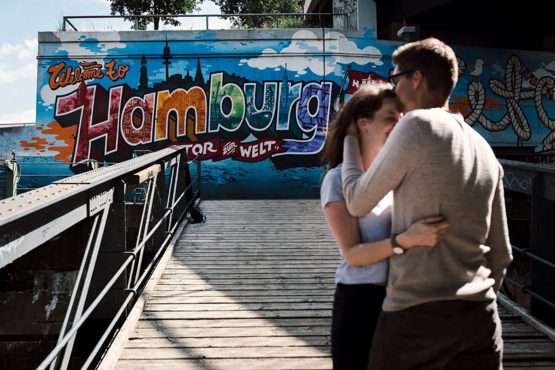 Grafitti Welcome to Hamburg, Das Tor zur Welt