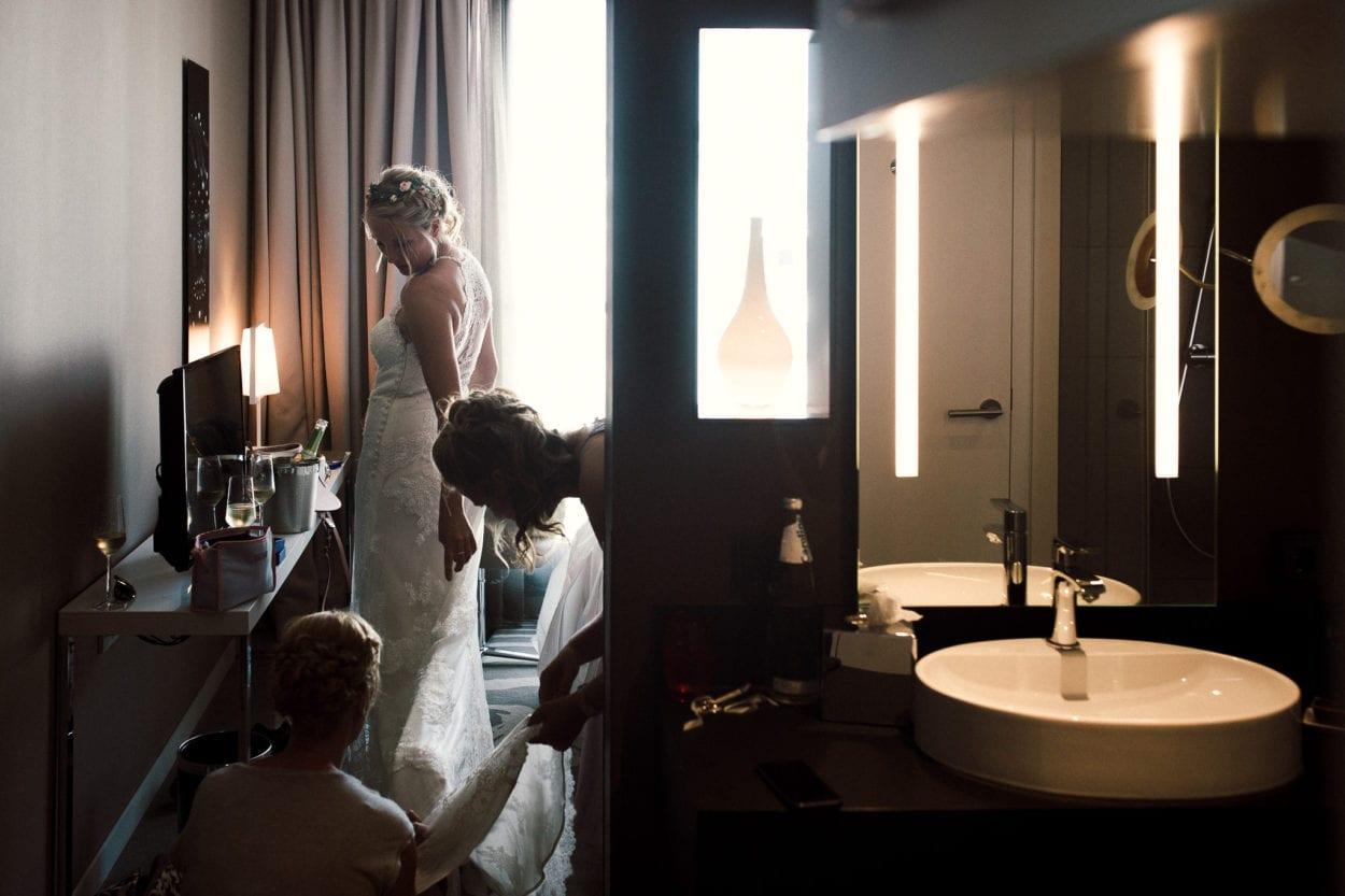 Getting Ready der Braut im Légère Hotels Bielefeld