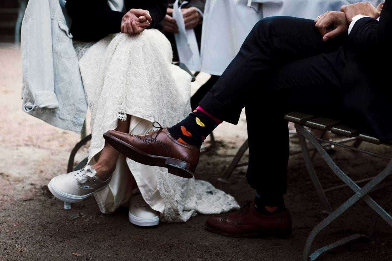 Herzsocken des Bräutigams zur Hochzeit