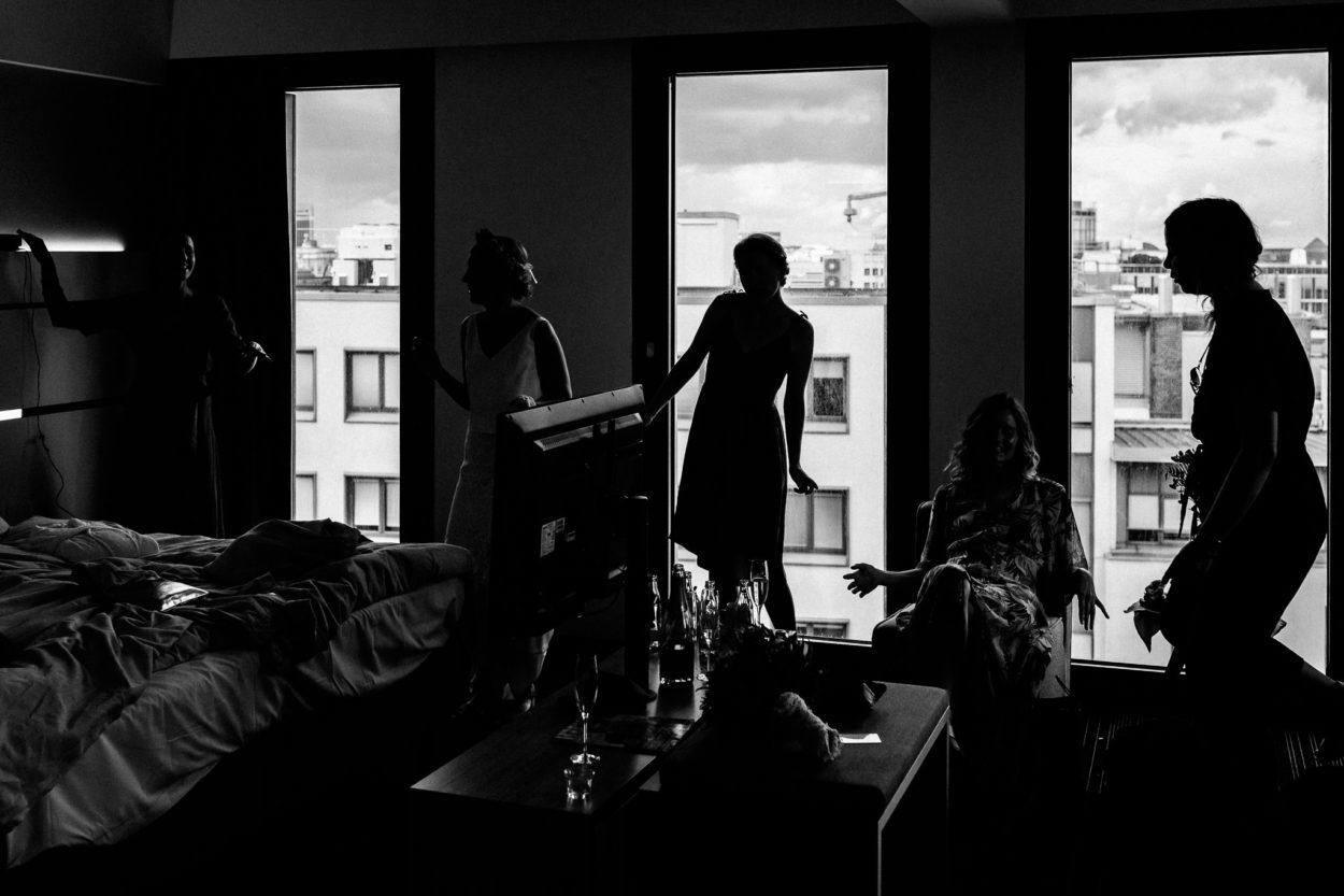 moderne Hochzeitsfotografie im Hyperion Hotel Hamburg