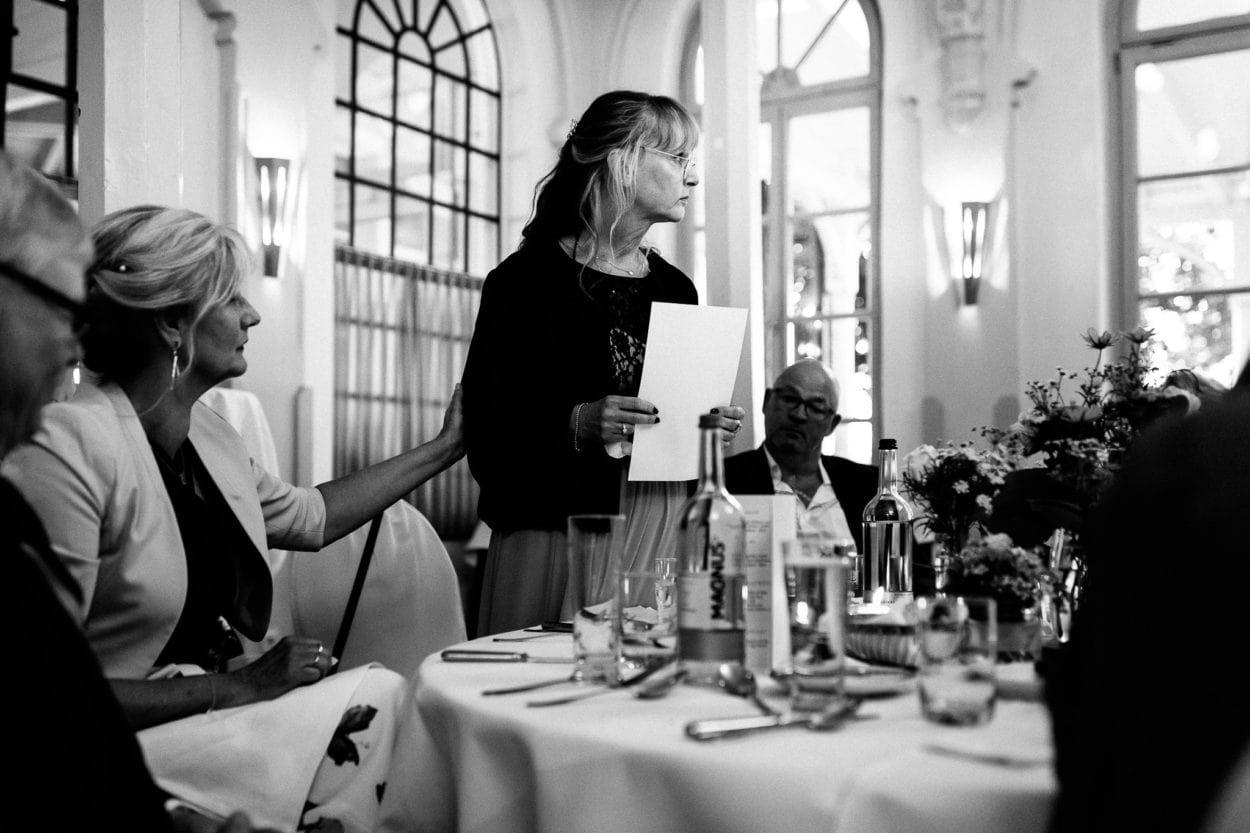 Rede der Brautmutter im Zollenspieker Fährhaus