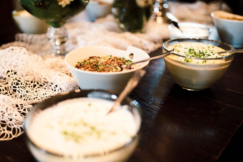 viele verschiedene, vegane Speisen im Heuhotel Hildebrand
