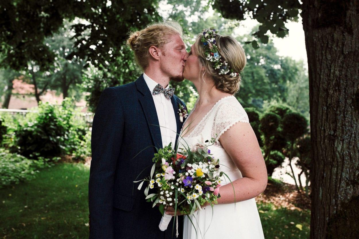 First Look des Hochzeitspaares in Sythen
