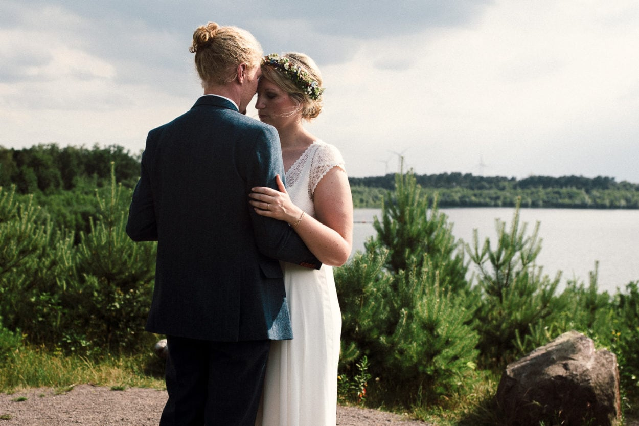 Emotionales Brautpaarshooting am Silbersee bei Haltern am See